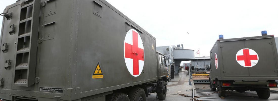 enfermería militar camiones