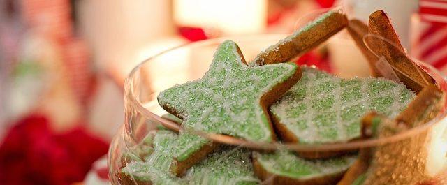 galletas de navidad con forma de estrella