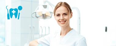 imagen de higienista dental con el icono de higienista